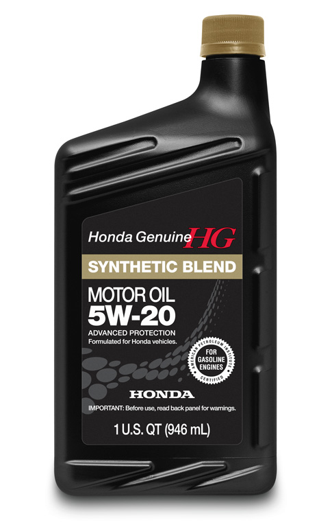 Honda 5w 20 synthetic blend motor oil 08798 9032 for Synthetic motor oil change schedule