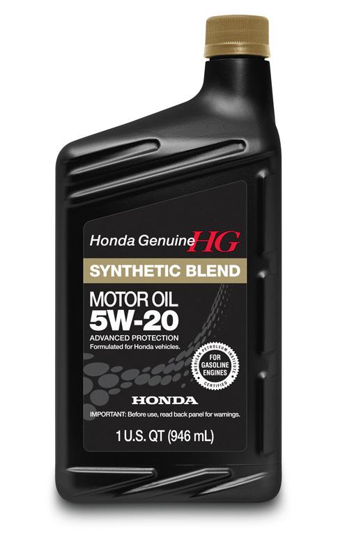 Synthetic Blend Oil >> Honda 5W-20 Synthetic Blend Motor Oil - 08798-9032