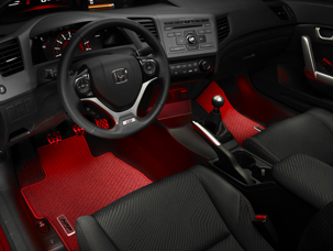 2012 Honda Civic Red Ambient Lighting Kit 08e10 Tr0 100a