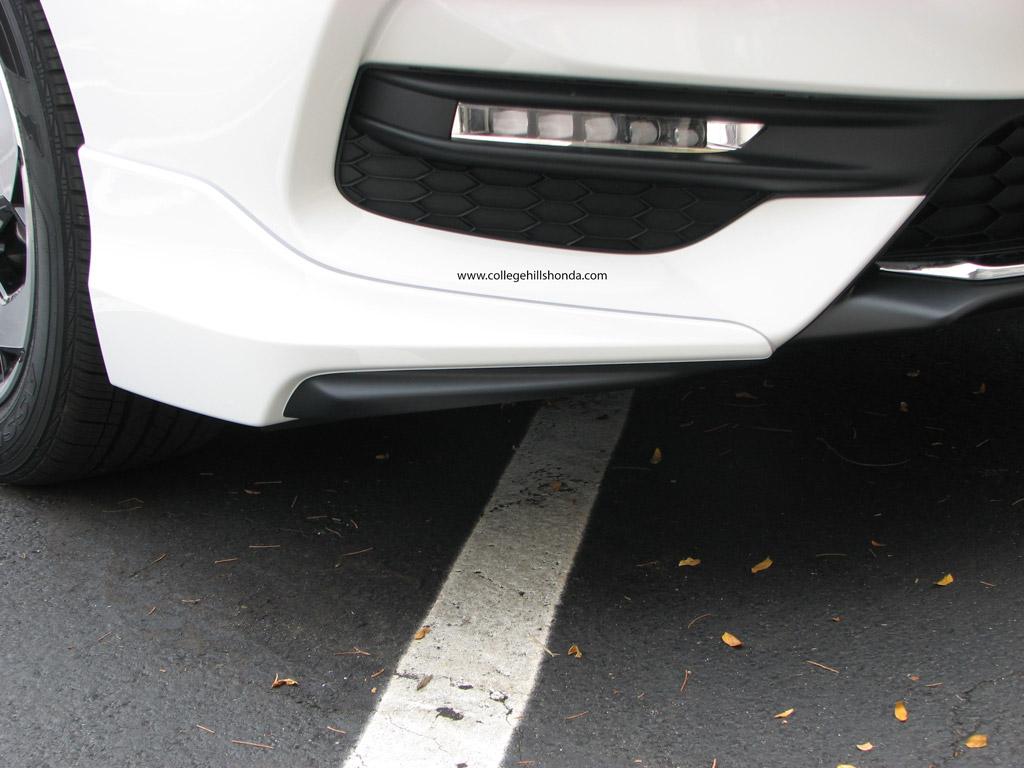 2017 Honda Accord White >> 2016-2017 Honda Accord 4dr Front Underbody Spoiler - 08F01-T2F