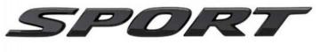 Gloss Black Sport Emblem