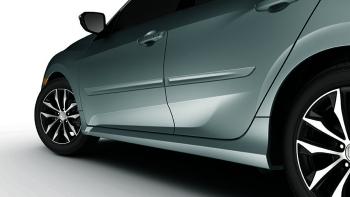 2017 Honda Civic Hatchback Lunar Silver Metallic Door Edge Guards