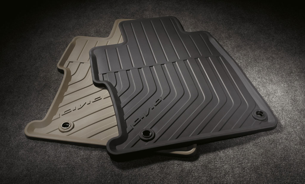 2012 honda civic 4dr black all season floor mats 08p13 for Honda odyssey life expectancy