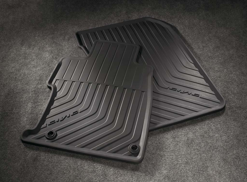 2012 honda civic 2dr all season floor mats 08p13 ts8 110 for Honda odyssey life expectancy
