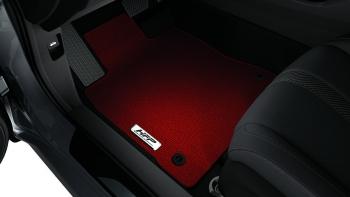 2017 2019 Honda Civic Sport Hatchback Red Hfp Floor Mats 08p15 Tgg 110a