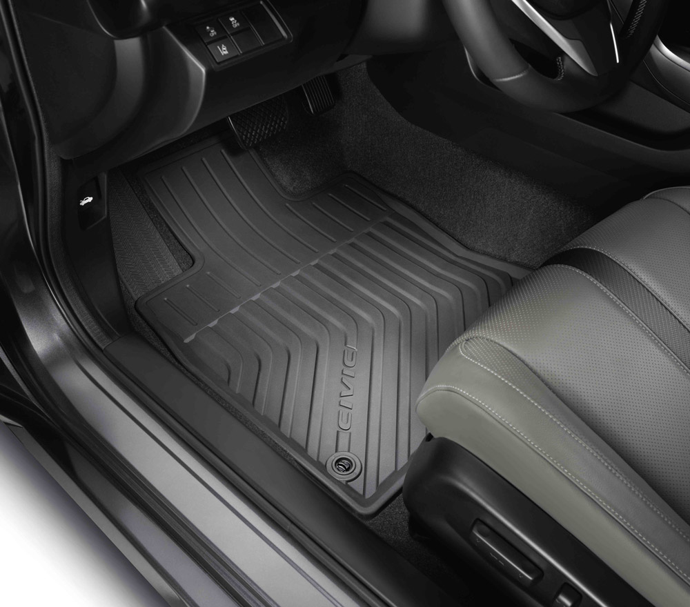 Custom Floor Mats >> 2016-2020 Honda Civic All Season Floor Mats - 08P17-TBA-100