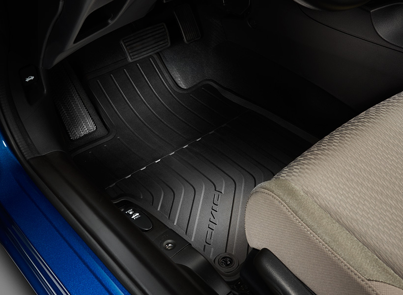 2016 2019 Honda Civic 2dr All Season High Wall Floor Mats