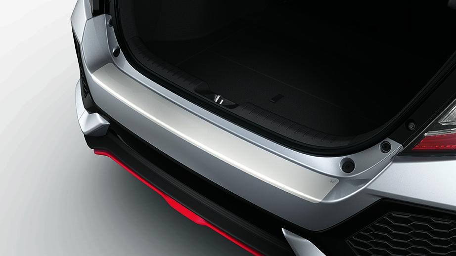 20172019 honda civic hatchback rear bumper applique