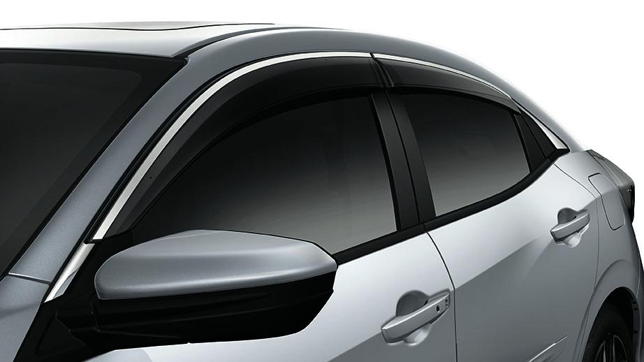 2017-2018 Honda Civic Hatchback Door Visors - 08R04-TGG-100