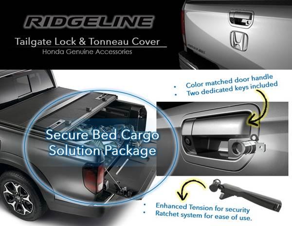 G537M Honda Genuine Ridgeline Tailgate Lock 08Z07-T6Z-100D