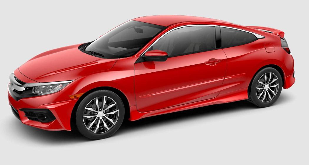 2016-2017 Honda Civic 2dr Body Side Moldings - 08P05-TBG
